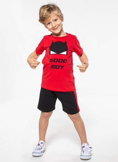 Lupiakids Good Boy 2'li Erkek Şort Takım Renkli